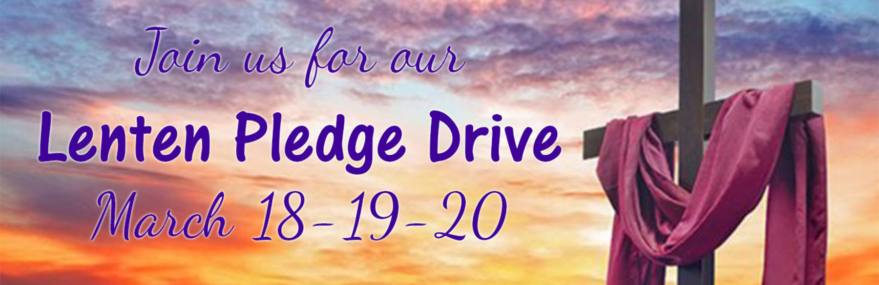 Lenten Pledge Drive 2020 Newest