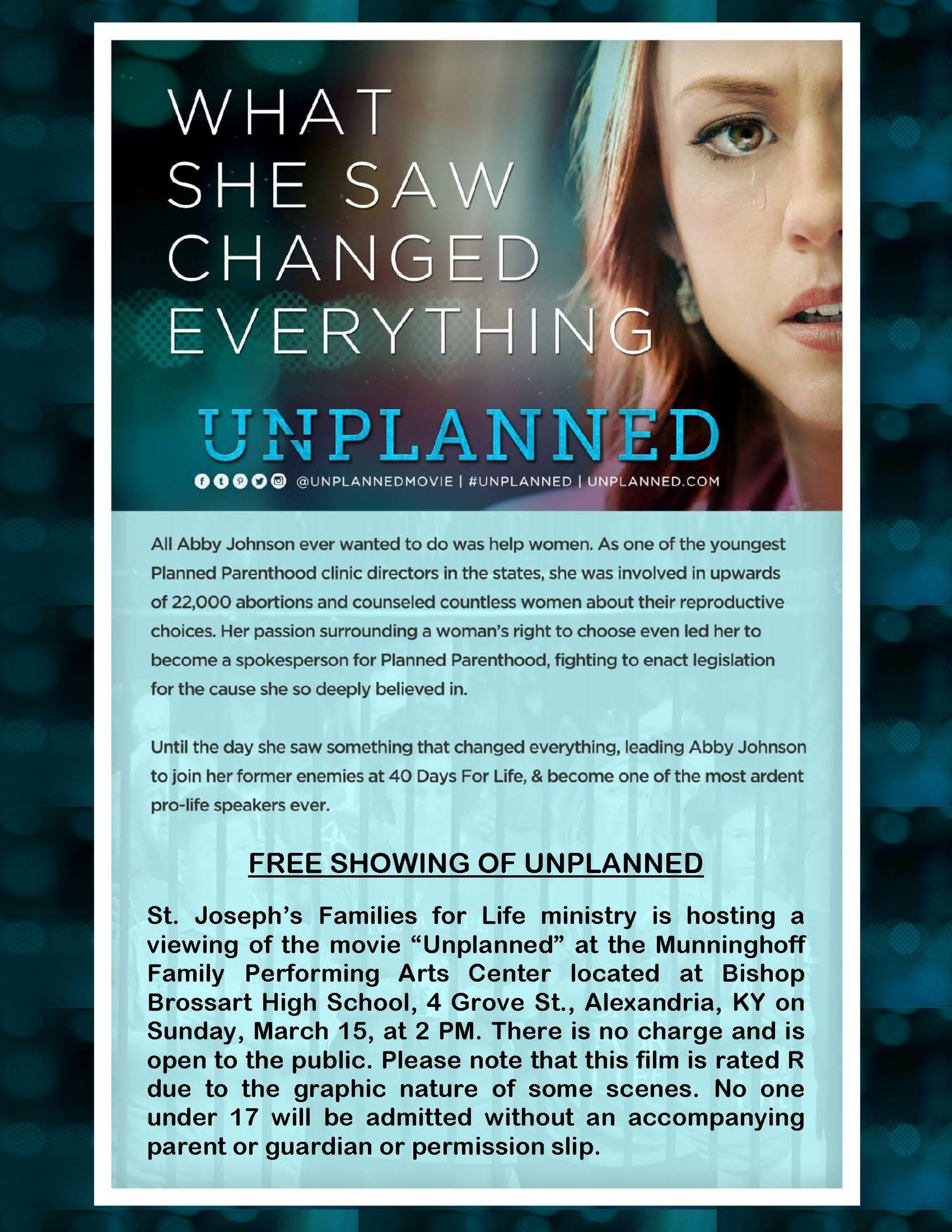 Unplanned 2 Sided 8.5 X 11 Flyer Page 1