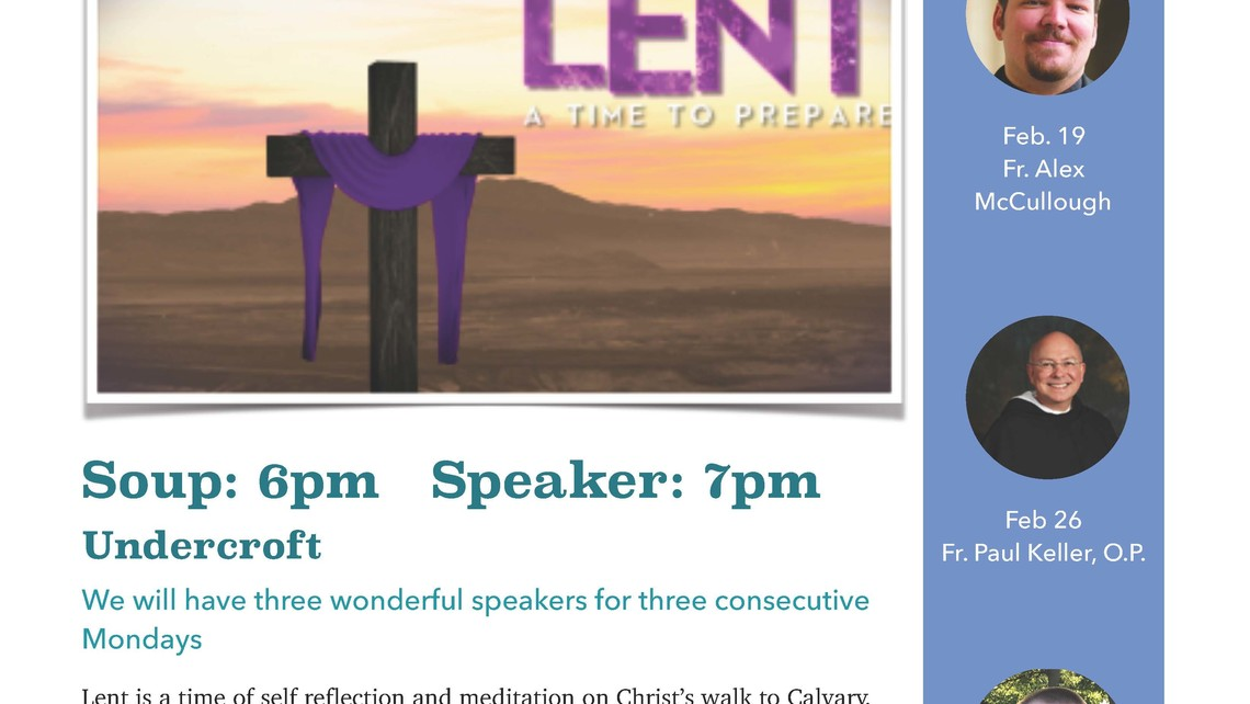 Lenten Speakers